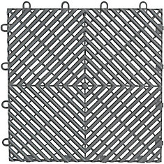 12-inchx 12-inch Silver Polypropylene Garage Flooring Drain Tile (4-Pack)