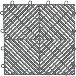 Gladiator 12-inchx 12-inch Silver Polypropylene Garage Flooring Drain Tile (4-Pack)