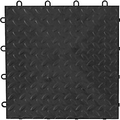 Gladiator Charcoal Floor Tile (4 Pack)