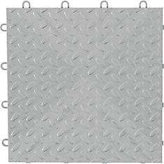 Silver Garage Floor Tile (4-Pack)