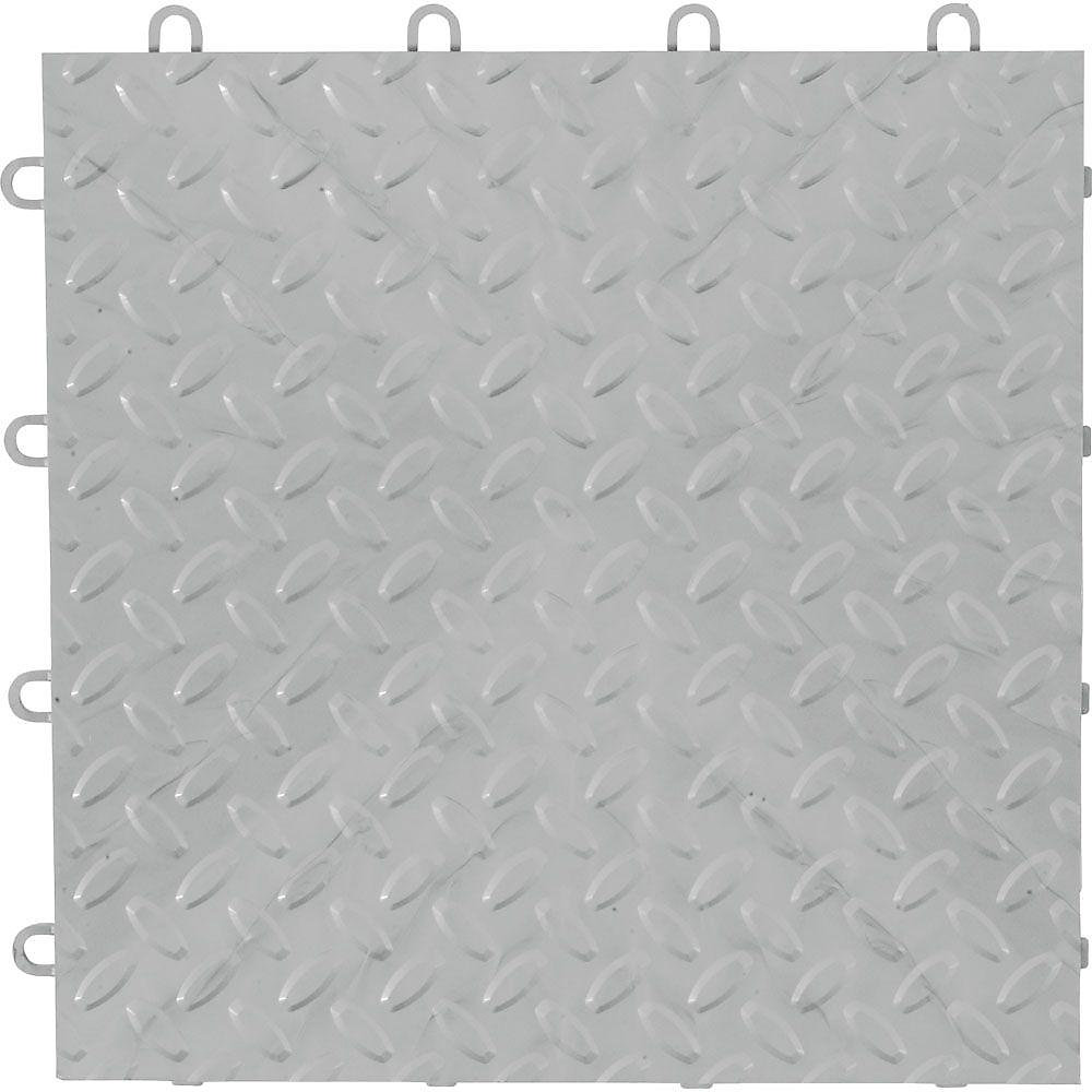 Gladiator Silver Garage Floor Tile 48 Pack The Home