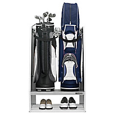 Premier Series Welded Steel 2-Bag Golf Caddy Garage Wall Storage in White