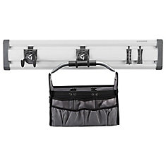 GearTrack 32-inch L Gardening Garage Wall Storage Kit with 4-Hooks and Project Bag