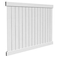 6X8 5.5 inch Privacy Panel White Dn