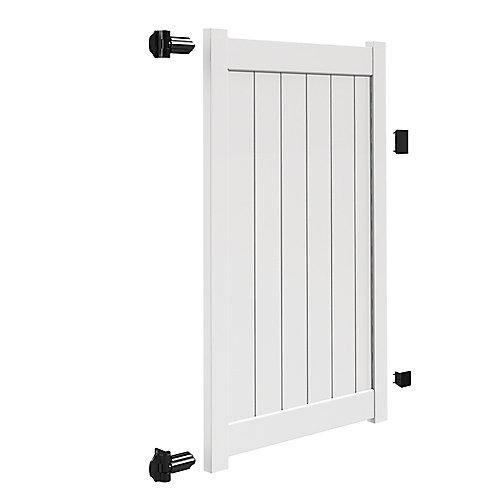 6X46 inch 1.75X5.5 Privacy Gate Uigp Wh