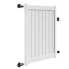 6X58 inch 1.75X5.5 Privacy Gate Uigp Wh