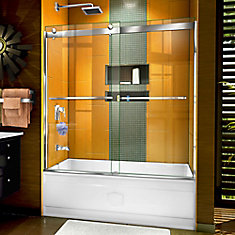 Sapphire 56-60 inch W x 60 inch H Semi-Frameless Bypass Tub Door in Chrome