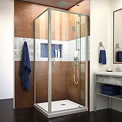 DreamLine Flex 81.28 cm. D x 81.28 cm. W Cabine de Douche de Pivot Semi-Sans Cadre et le Biscuit Base