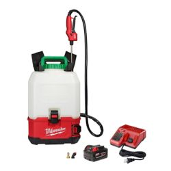 Milwaukee Tool M18 18V 4 Gal. Lithium-Ion Cordless Switch Tank Backpack Pesticide Sprayer Kit w/ 3.0Ah Battery