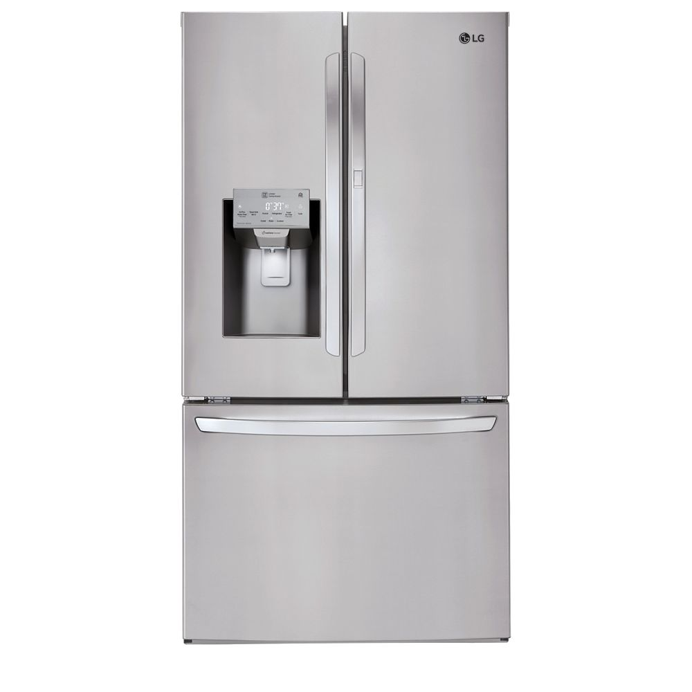 LG Electronics 36-inch W 26 cu. ft. French Door Refrigerator with Door-in-Door® and Wi-Fi in Smudge Resistant Stainless Steel - ENERGY STAR®