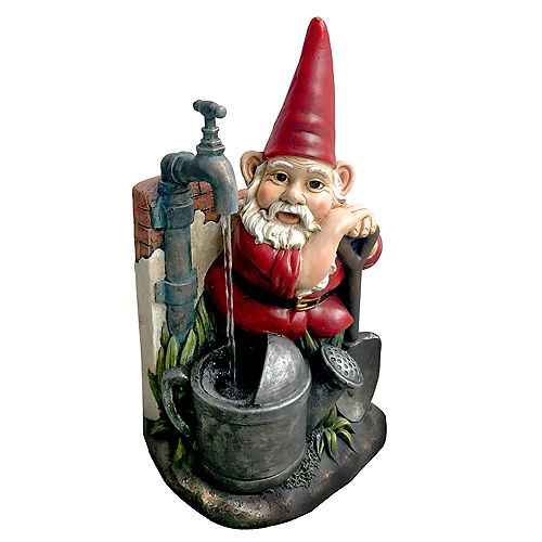 Angelo Décor Gnome at Well Fountain