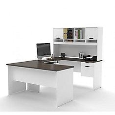 Brilliant Innova U Shaped Workstation In White And Antigua Interior Design Ideas Inesswwsoteloinfo
