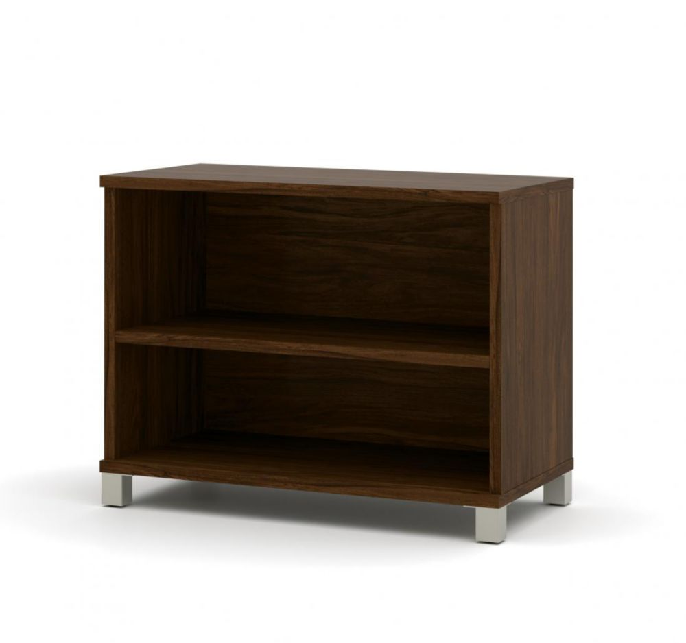 Bestar Pro-Linea 2-shelf bookcase in Oak Barrel