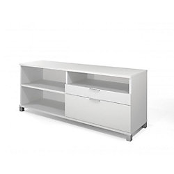 Bestar Pro-Linea Credenza with two drawers in White