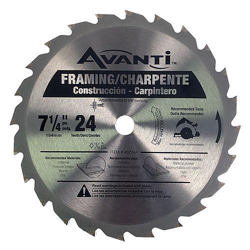 Avanti 7-1/4 x 24 Tooth Framing Blade