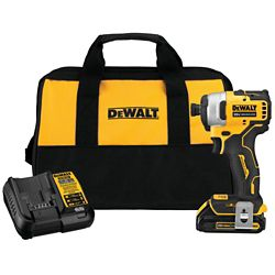 DEWALT ATOMIC 20V MAX Li-Ion Brushless Cordless Compact 1/4-inch Impact Driver w/ (1) Battery 1.3Ah, Charger & Tool Bag