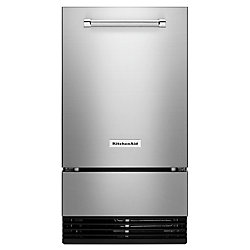 KitchenAid 18-inch Outdoor Automatic 35 lbs Ice Maker in Stainless Steel