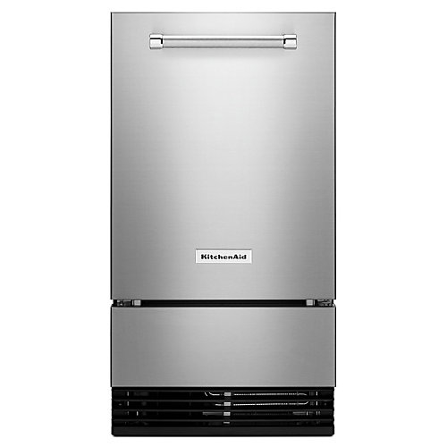 18-inch Outdoor Automatic 35 lbs Ice Maker in Stainless Steel