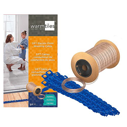 Warm Tiles 240 VAC DFT Electric Floor Warming Cable, 8.5 amps (146-165 sq. ft.)