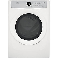 8.0 cu. ft. Front Load Electric Dryer in White, ENERGY STAR®