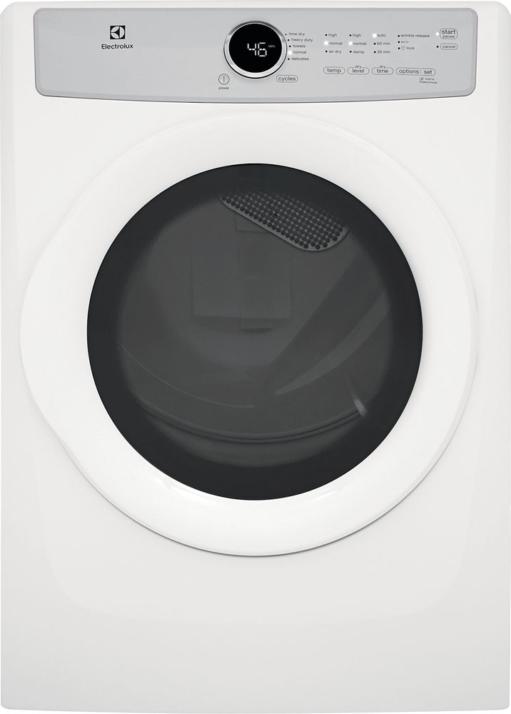 Electrolux 8.0 cu. ft. Front Load Electric Dryer in White, ENERGY STAR
