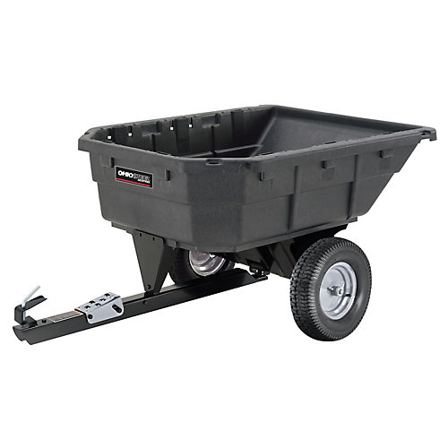 15 cu. ft. 1000 lb. Capacity Poly Swivel Dump Cart,