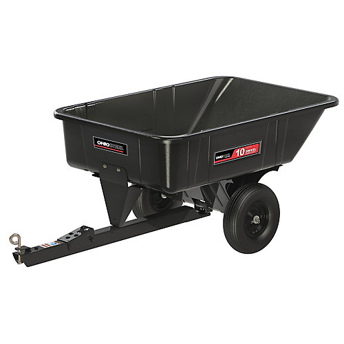 10 cu. ft. 600 lb. Capacity Poly Swivel Dump Cart