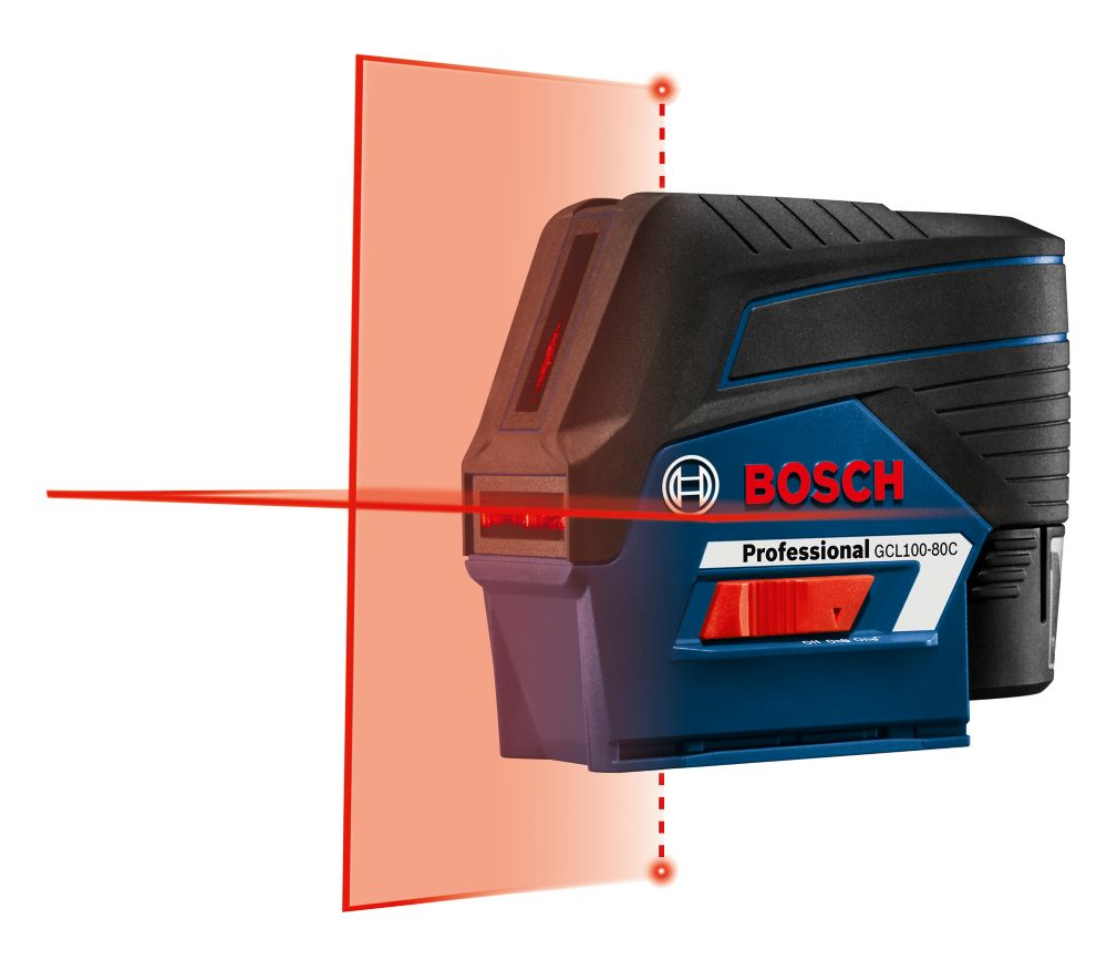 Bosch 12V Max Connected Cross-Line Laser with Plumb Points