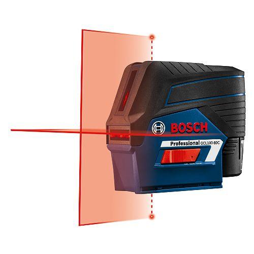 Bosch Laser croix 12 V Max connecté avec points d'aplomb
