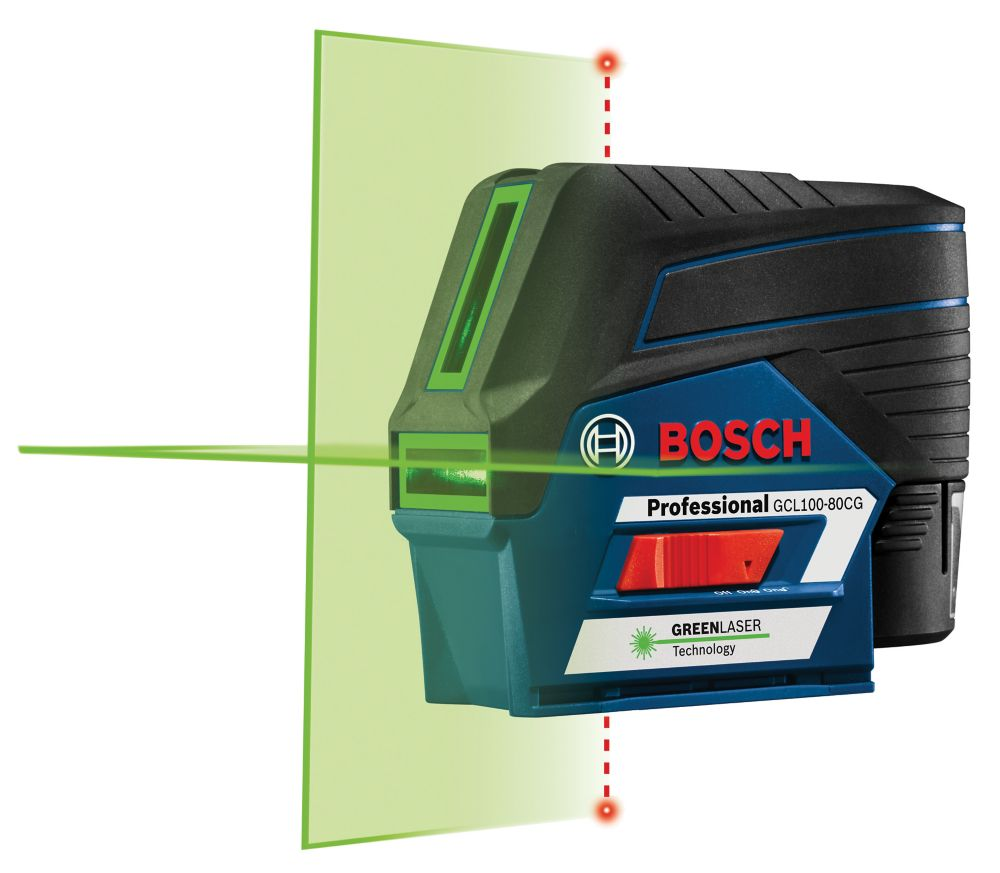 Bosch 12V Max Connected Green-Beam Cross-Line Laser with Plumb Points