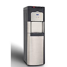 Refroidisseur d'eau noir et inoxydable à chargement par le bas autonettoyant avec affichage numérique