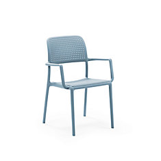 Bora Arm Chair (Set of 4) in Celeste