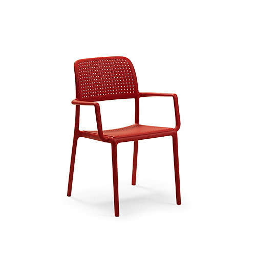 Bora Arm Chair (Set of 4) in Red