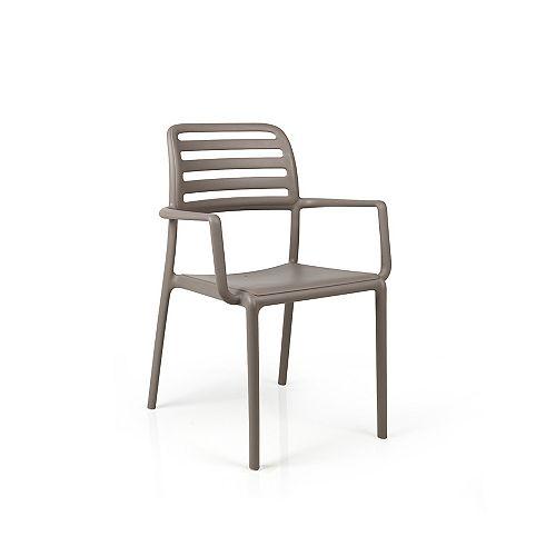 Nardi Costa Arm Chair (Set of 4) in Tortora
