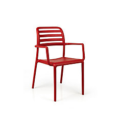 Costa Arm Chair (Set of 4) in Red