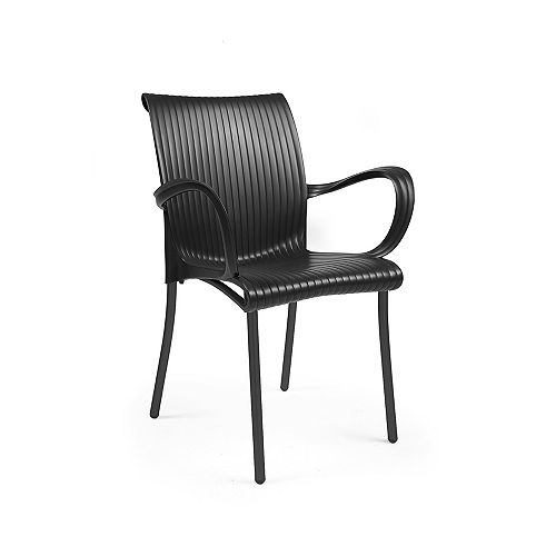 Nardi Dama Arm Chair (Set of 4) in Anthracite