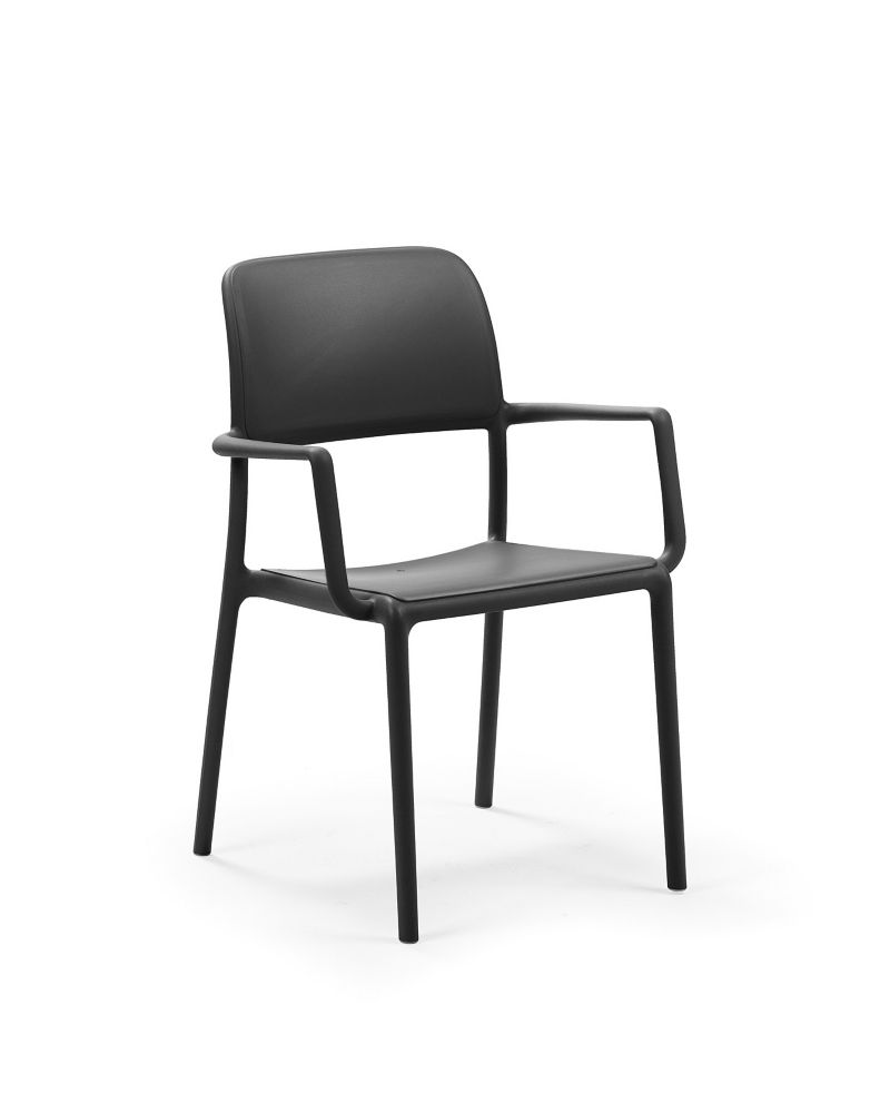Nardi Riva Arm Chair (4-Pack) - Anthracite
