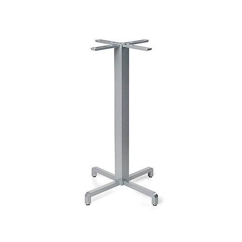 Fiore Bar Height Table Base - Silver