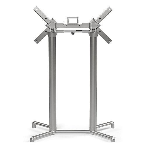 Scudo Double Tilting Bar Table Base - Silver