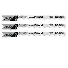 Lames de scie sauteuse à pied enU Clean for Wood de 2-3/4 po à 20dents par pouce, 3pièces