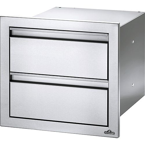 Napoleon 18 inch X 16 inch Double Drawer