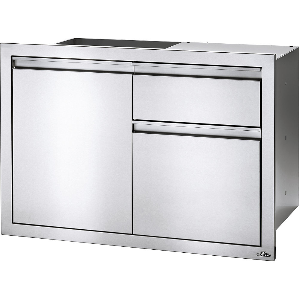 36 inch X 24 inch Single Door & Waste Bin Drawer