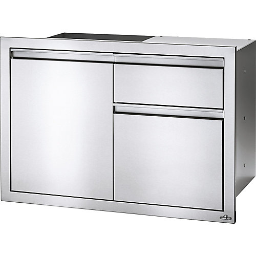 Ensemble porte simple, tiroir à déchets et porte-essuie-tout, 36 po x 24 po