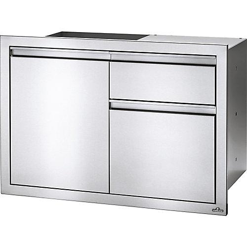 36 inch X 24 inch Single Door & Waste Bin Drawer