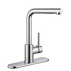 Menlo Single-Handle Pull-Out Sprayer Kitchen Faucet in Polished Chrome