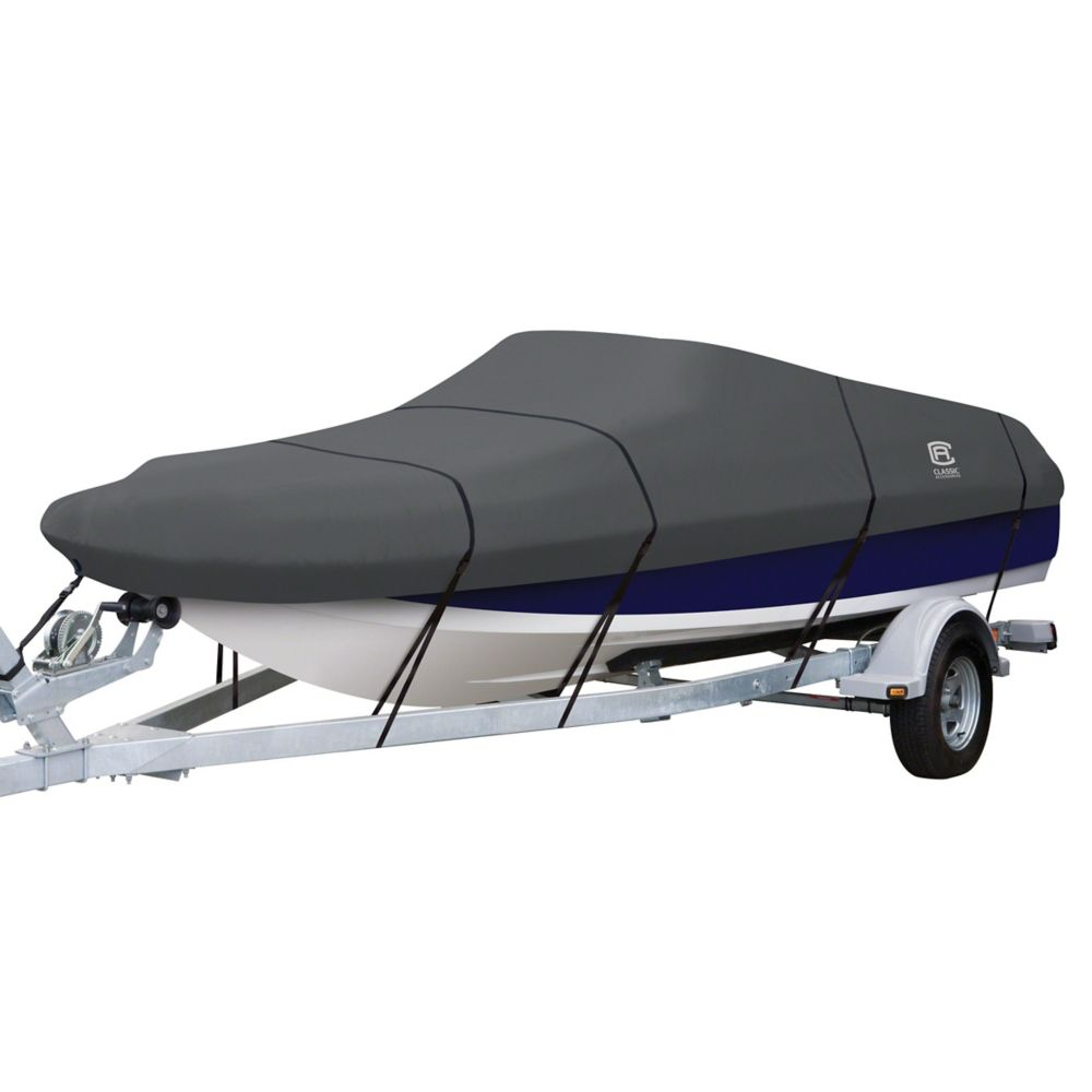 Classic Accessories StormPro Deck Boat Cover, Fits Boats 17 ft. - 19 ft. L x 102 inch W