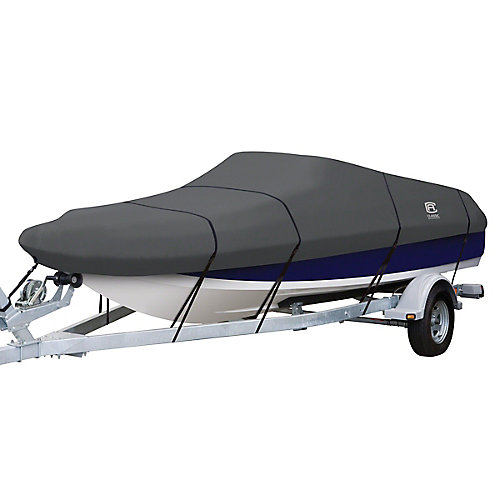 StormPro Deck Boat Cover, Fits Boats 20 ft. - 22 ft. L x 106 inch W