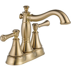 Cassidy Two Handle Centerset Lavatory, Champagne Bronze
