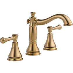 Delta Addison Two Handle Wide Spread Lavatory with Metal Pop-Up, Champagne Bronze