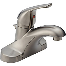 Single-Handle Lavatory Faucet, Stainless Steel